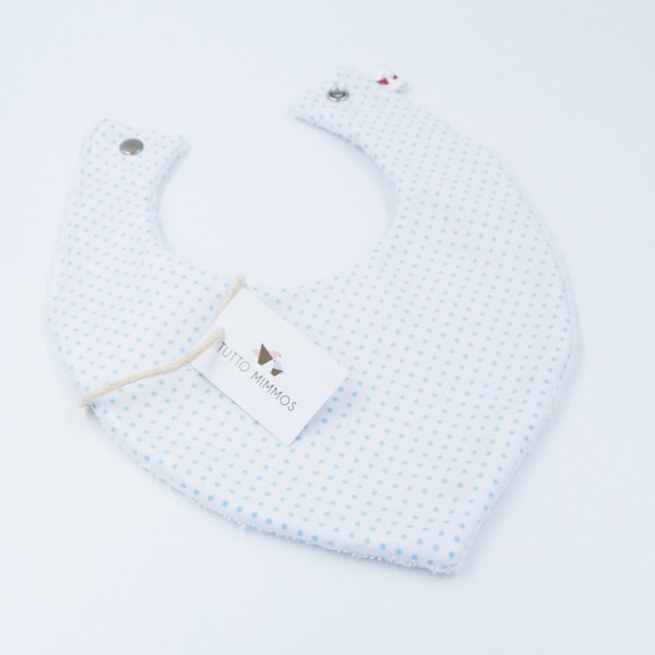 Bandana Little Dots blanco-azul
