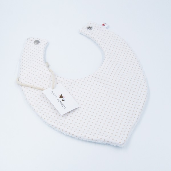 Bandana Little Dots blanco-beige