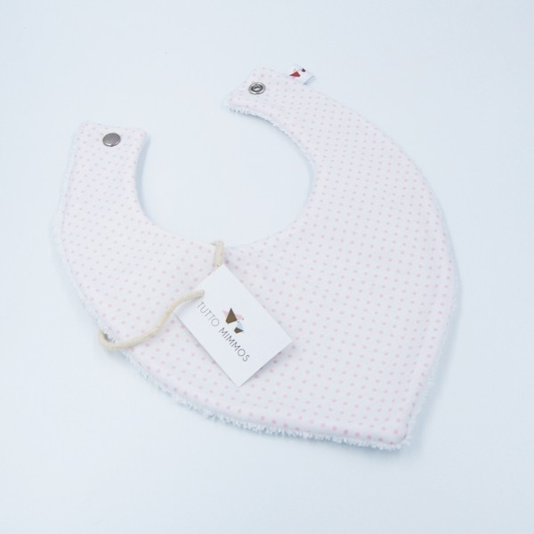 Bandana Little Dots blanco-rosa