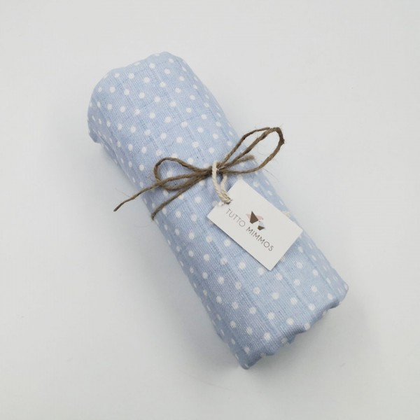 Muselina bebé Little Dots Blue
