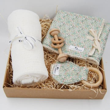 Newborn Box Flower Green