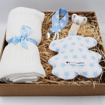 Cesta Newborn Sweet Bear azul