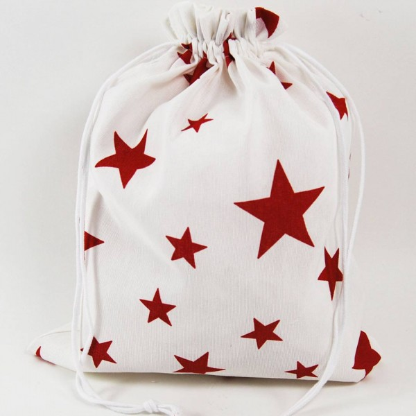 Bolsa Clothes Red Star white