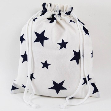 Bolsa Clothes Blue Star white